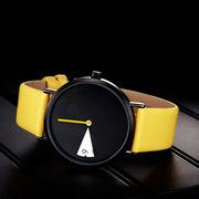 عارضة نمط كوارتز ساعة الإبداعية يتصل أزياء المرأة ضد للماء جلدية حزام كوارتز ساعة