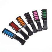 6 Farben Haarfärbemittel Kamm Bürste Vorläufig Schlämmkreide Pulver Färben Werkzeug