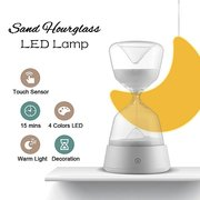 Touchable Lamp Colors Changed Romantic Hourglass Night Light Bedside Sleeping Timer Sandglass Gift