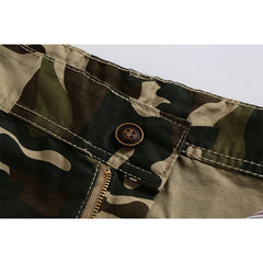 Mens Classic Outdoor Camouflage Side Pockets Knee Length Cargo Shorts