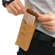 Vintage Genuine Leather Waist Bag Business Solid Crossbody Bag For Men