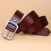 Men Business Cowhide Belt Genuine Leather Waistband Needle Buckle Casual Youth All-match Belt