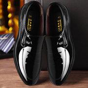 Homens cor pura apontou Toe Lace Up sapatos de casamento vestido de negócios
