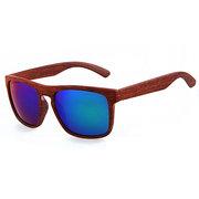 Herren Damen Sonnenbrillen aus Holz gespiegeltes Quecksilberglas UV400 Schutzbrillen