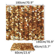 Home Mat Set Waterproof Fabric Gold Metal Sheets Shower Curtain Liner Bathroom