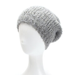Women Winter Warm Knitted Yarn Solid Color Beanie Caps High Elastic Comfortable Brimless Hat