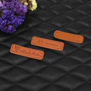 PU Leather Tags On Clothes Garment Labels For Jeans Bags Shoes Sewing Accessories