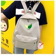 Ins Wind Bag Female College Students Harajuku Backpack Day High School Ancient Sense Girl Embroidery Line Canvas Backpack