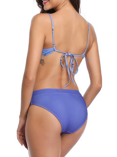 Mujeres Sexy Bikinis Push Up Impreso Criss Cross High Cut String Swimsuits