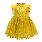 Robes de filles de fleur de dentelle enfant fantaisie robe pour 1Y-7Y