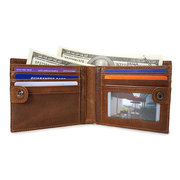 Genuine Leather Wallet 10 Card Slots Coin Bag Vintage Removable Purse For Men