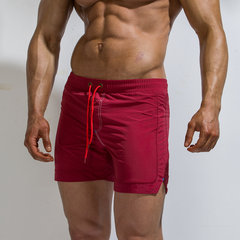 Knit Single Back Pocket Mens Board Shorts Solid Color Quick Dry Sport Beach Three Cents Trousers