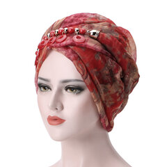 Women Bali Yarn Necklace Scarf Ethnic Tie Turban Cap Arab Wrap Scarf