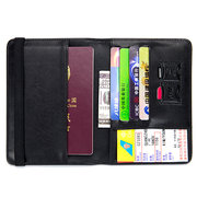 Men And Women Genuine Leather Ultra - Light Thin Passport Holder Wallet Sheepskin Weaving Purse