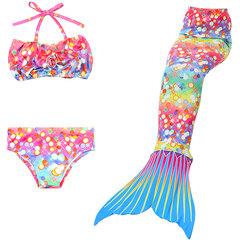Girls Cute Mermaid Tail Traje de baño Cosplay Traje de baño Bikini para niños para 4Y-13Y