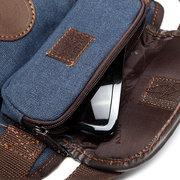Vintage Canvas Sports Leg Bag Casual Outdoor Waist Bag Multi Pocket Solid Bag For Men