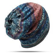 Womens Cotton Ponytail Beanie Hat Vintage Print Beanie Hats Outdoor For Both Hats And Scarf Use