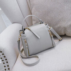 Women Leisure Solid Bucket Bags Faux Leather Large Capacity Crossbody Bags