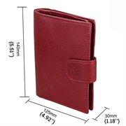 RFID Antimagnetic Women Men Leather Multi-slots titulaire de la carte petit portefeuille bourse