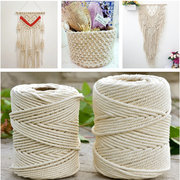 2-5mm Handmade DIY Tying Craft Macrame String Cord Rope Cotton Twisted Cords Home Decor