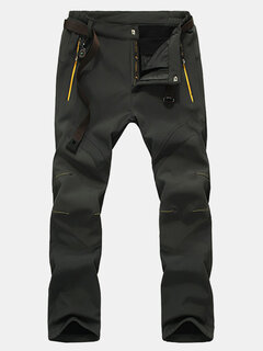 Mens Outdoor Windproof Water-repellent Thicken Pants Breathable Thermal Trousers