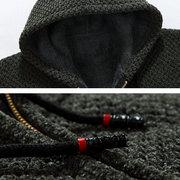 Winter lässig stricken atmungsaktiv lose verdicken Fleece Kordelzug Taschen warmen Hoodies