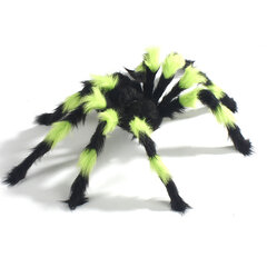 Halloween Decor Spiders Black Spiders Fluffy Hairy Spider Web Tricky Toy Halloween Prop