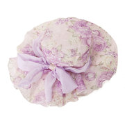 Women Floral Bow Thin Sunscreen Bucket Hat Outdoor Casual Travel Beach Sea Hat
