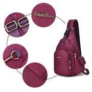 Women Waterproof Chest Bag Multi-carry Solid Shopping Backpack