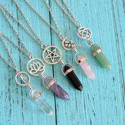 Collares para mujer de colores naturales de moda Lotus Lotus Fairy Charm collares para mujeres