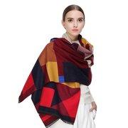 LYZA 200 м женский полиэстер полосатый шаль и шарфы лоскутное увлажнение Warm Watkins Nap шарф