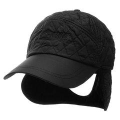 Мужская женская твердая защита от ушей Теплый бархат Бейсбольная кепка Зимняя регулируемая повседневная шляпа