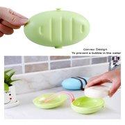 حلوى لون سفر صابون صندوق حامل سليكوون يختم ماء صابون بلاستيكي صحن حالة