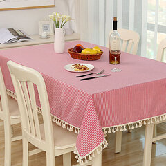 Countryside Style Inspissate Tablecloth Cotton Linen Table Cloth Home Decor
