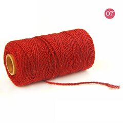 2mmx100m Multi-color Cotton Twist Rope DIY Materials Macrame Rustic Rope Hand Craft