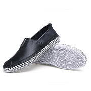 Big Size Men Stitching Toe Protecting Flat Lazy Shoes Slip On Casual Loafers
