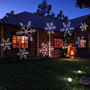 16 Patterns Outdoor Waterproof LED Christmas Snowflake Projector Lamp
