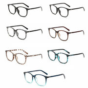 Flat Mirror Large Frame Retro Glasses Gradient Multicolor Glasses