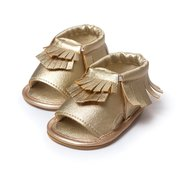 Flat Comfy Soft Sole Leather Newborn Infant Toddler Shoes