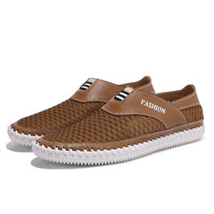 Men Mesh Lycra Fabric Splicing Stitching Soft Outdoor Sport Casual Shoes