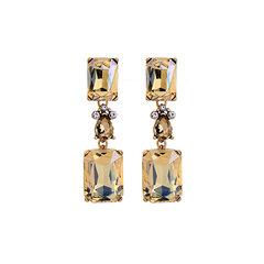 Trendy Shiny Diamond Ohrringe Lange Stil Perlenohrringe Für Damen