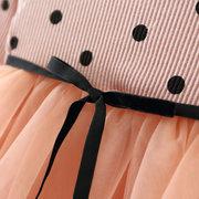 Polka Dot Long Sleeve Girls Mesh Princess Tutu Dress For 6-36M