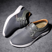 Men Mesh Splicing Breathable Sport Running Casual Shoes