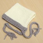 Nouveau-né bébé blanc crochet tricot chapeau photo photographie prop casquette chaude