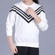 Girl's Clothes Sailor Striped Long Sleeve T Shirt And Pants Set