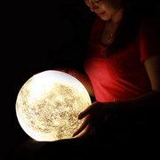 DecBest Lampada LED di Luna con 3D Stampa con USB Ricaricabile