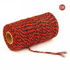 2mm 100m Two-tone Cotton Rope DIY Handcraft Materials Cotton Twisted Rope Gift Decor