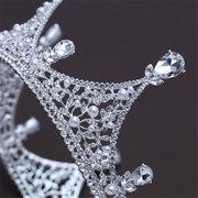 Tiara nuziale di lusso di spettacolo di cerimonia nuziale dello spettacolo di spettacolo del partito di cerimonia nuziale nuziale del re rotondo di lusso del re