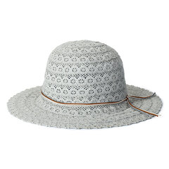Women Hollow Foldable Breathable Crochet Straw Hats Casual Sunscreen Visor Beach Sun Hat