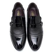 Men Splicing Leather Cap Toe Casual Formal Dress Shoes